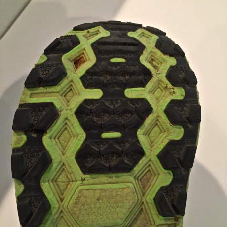 Forefoot tread after 500 miles