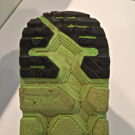 Heel tread after 500 miles