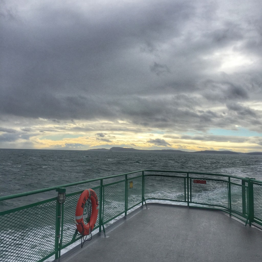 Leaving the San Juan Islands.